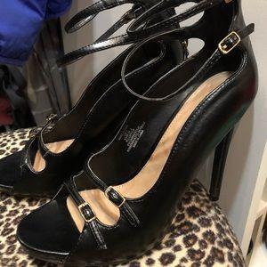JustFab high heels black very sexy s 7 37.5